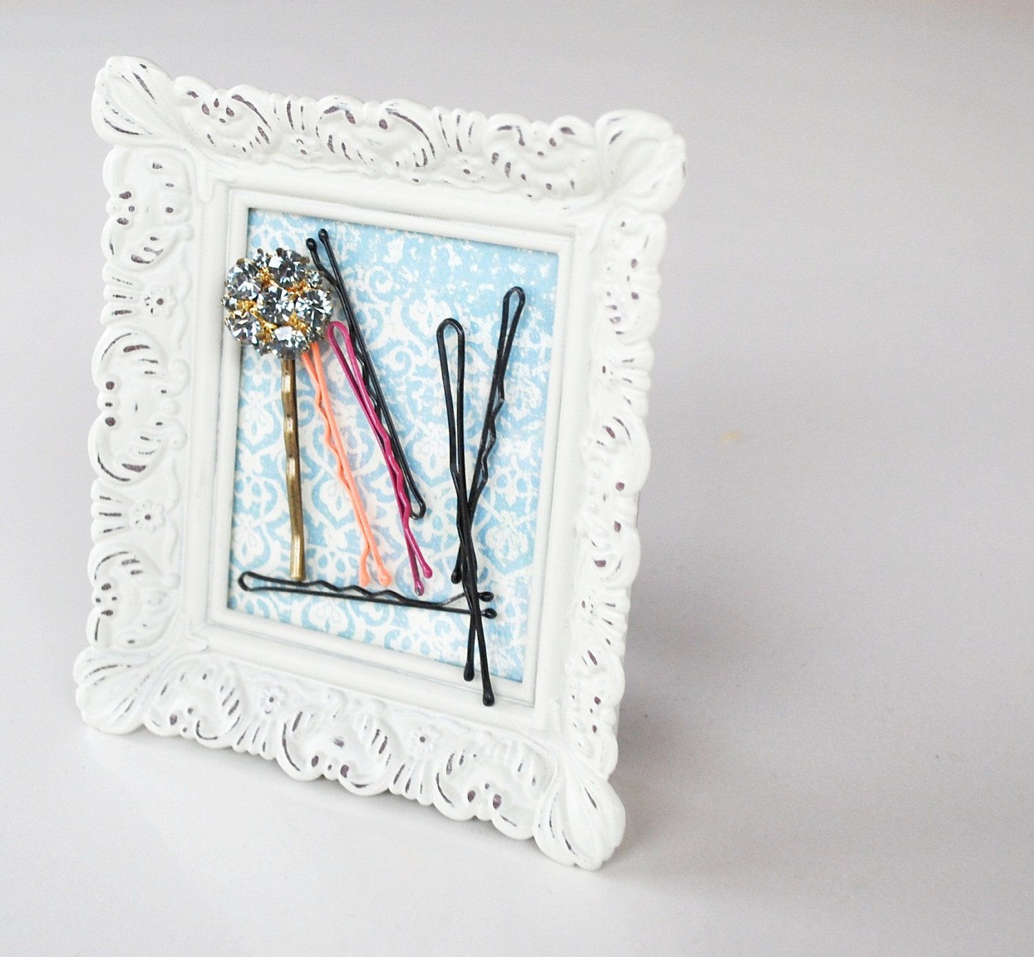 frame bobby pin holder for womens hair pins. | Party Idea ...