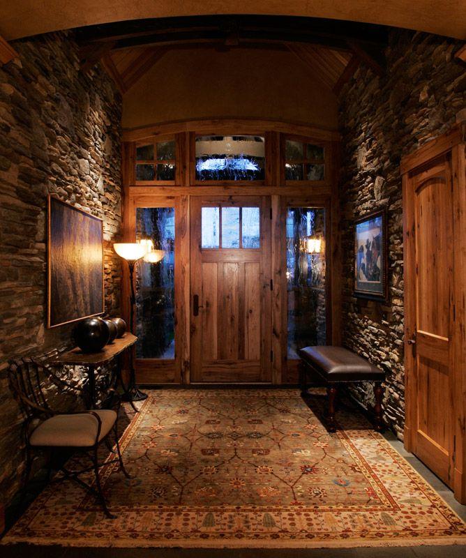 Log Home Foyer Ideas : Love the earthtones for home pinterest edward