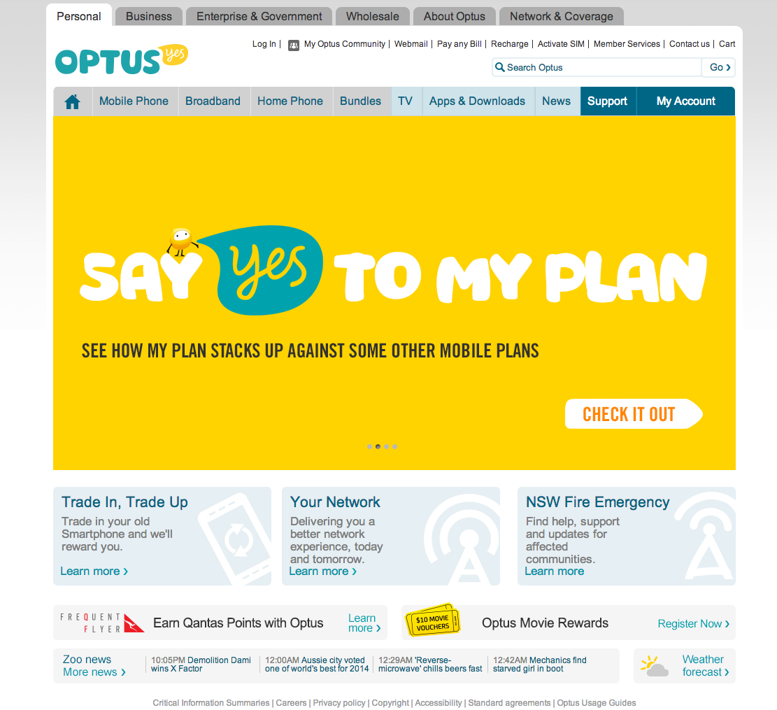 Optus Austrailia Business person, How to plan, Home phone