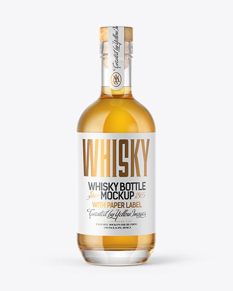 Single Malt Whisky Bottle With Wooden Cap Mockup In Bottle Mockups On Yellow Images Object Mockups Whisky Bottle Bottle Mockup Mockup Free Psd