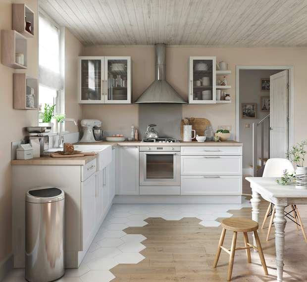 Nos idées faciles et pas chères pour relooker la cuisine Mezzanine - adhesif pour plan de travail cuisine