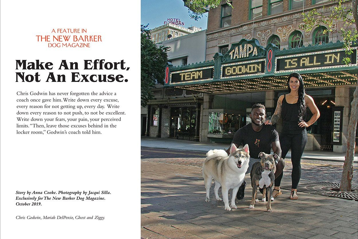 Tis The Season For Chris Godwin A Wide Receiver For The Tampa Bay Buccaneers But For More Than What He S Doing On The Gridiro Dog Magazine Shelter Dogs Dogs
