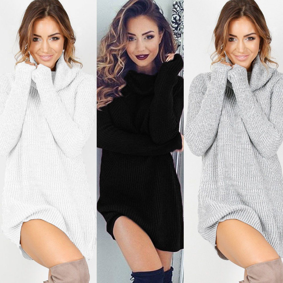 Cool great womens autumn winter long sleeve knit bodycon party