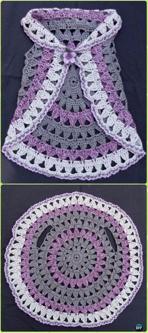 DIY Crochet Circle Block Vest Free Pattern -Crochet Little Girl ...