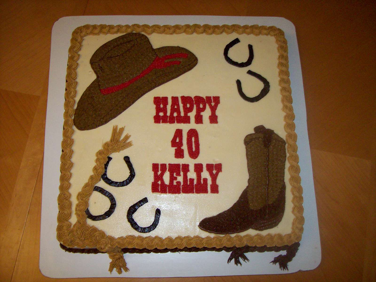 Pleasant Western Cake With Images Cowboy Birthday Cakes Western Funny Birthday Cards Online Aboleapandamsfinfo