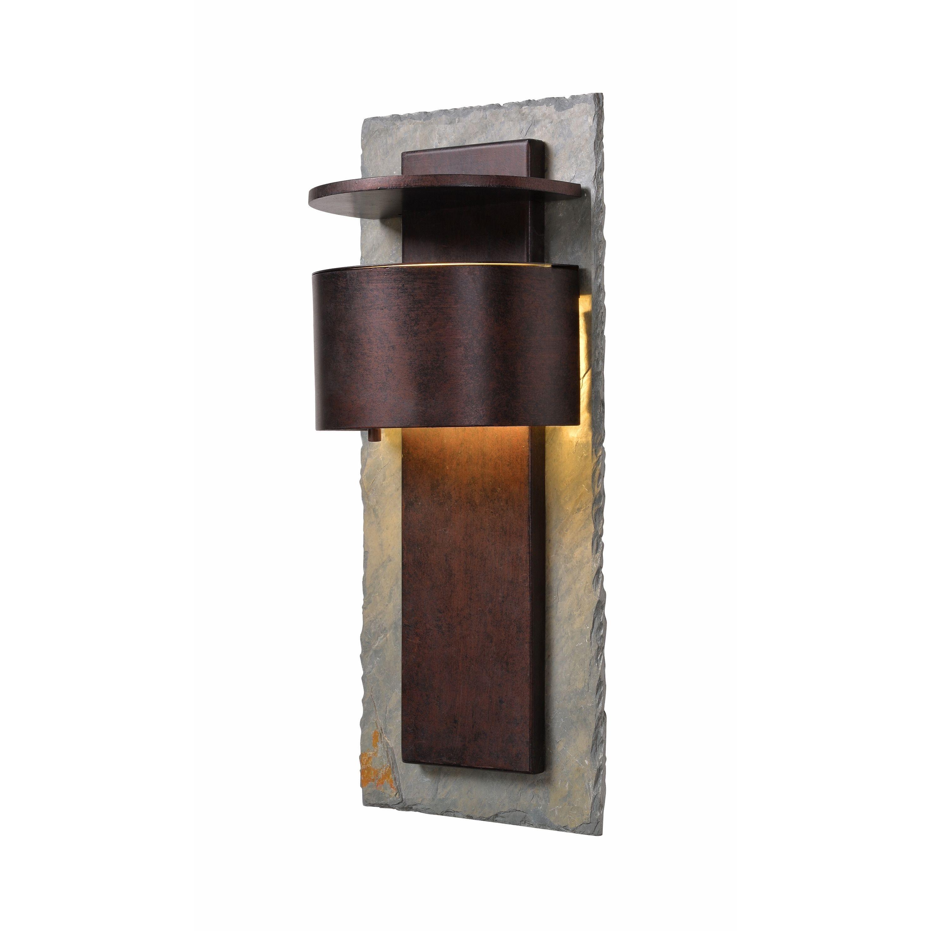 Darius 19 Dark Sky Led Wall Lantern Slate And Copper Multicolor Design Craft Outdoor Wall Lantern Outdoor Wall Lighting