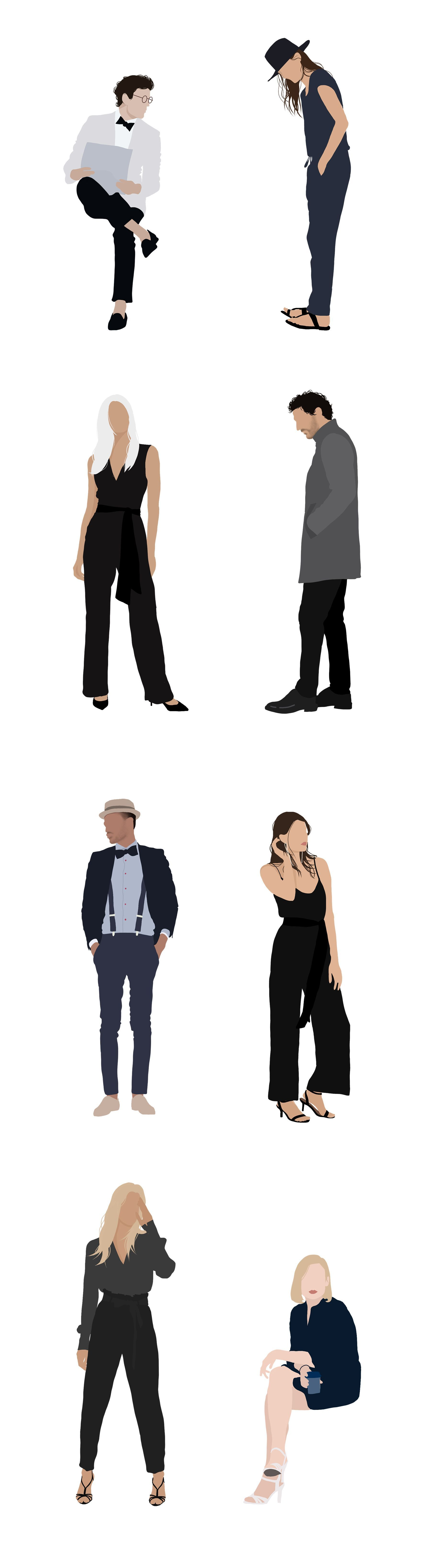 Illustration Package Clipart Package People Vector Person People Vector Human Woman Png Man Ai8 People Illustration People Png Person Silhouette