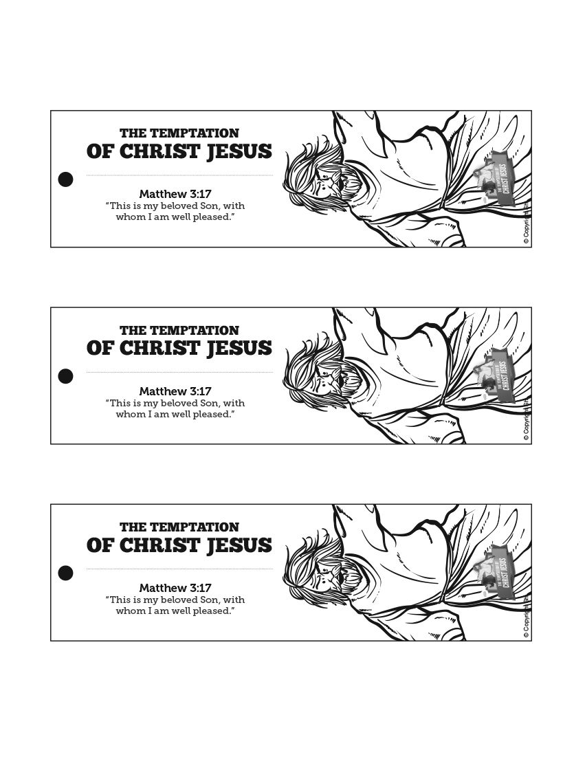 Matthew 4 Jesus Tempted Bible Bookmarks Jesus Tempted From