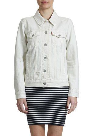 Veste en jeans blanche pour femme