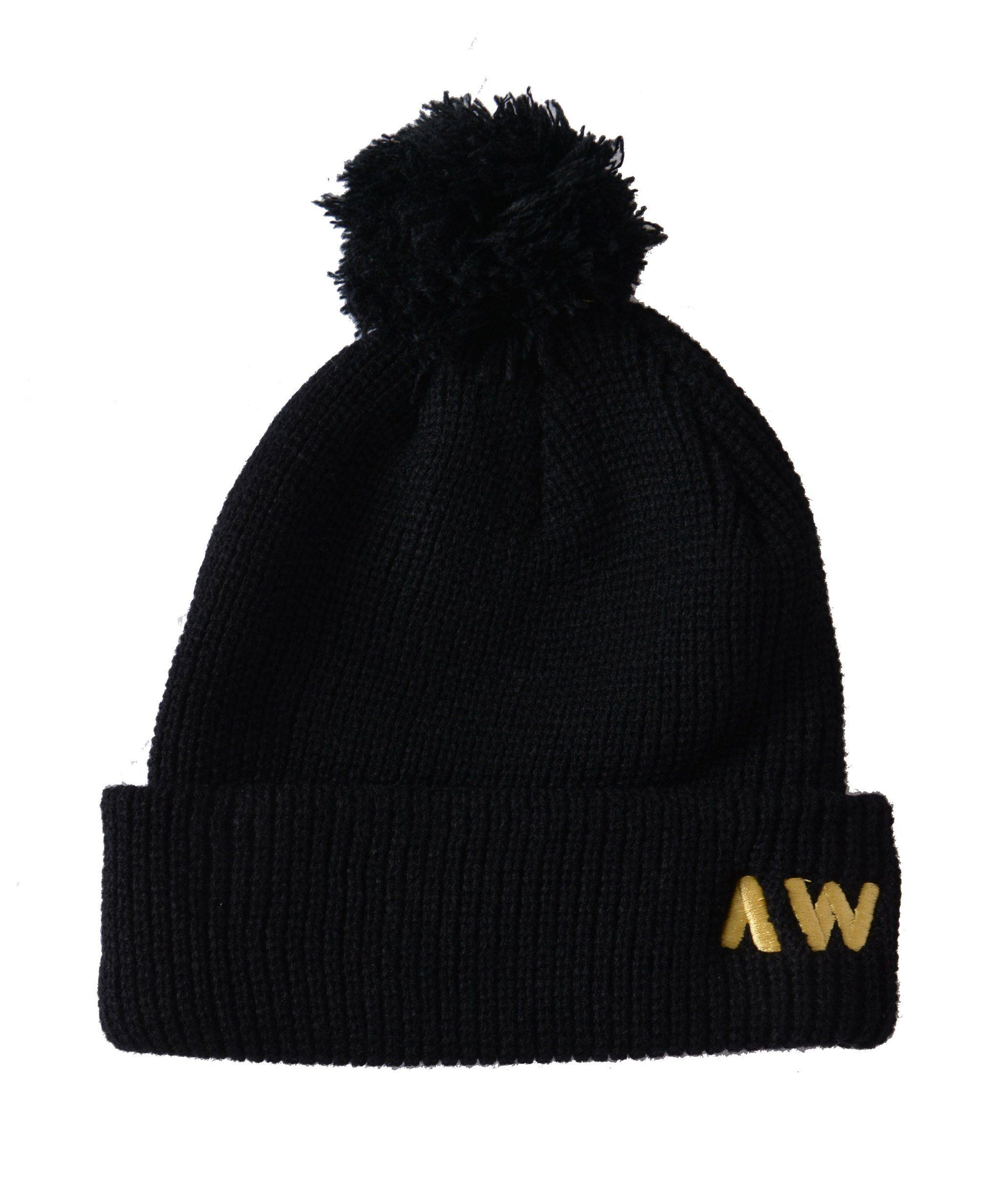 57f4cfb9534935 Wassabi AW Pom Pom Beanie - Black/Gold | wish list for christmas ...