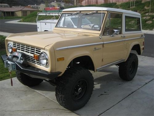 Cream Early Bronco Ford Bronco Bronco Early Bronco