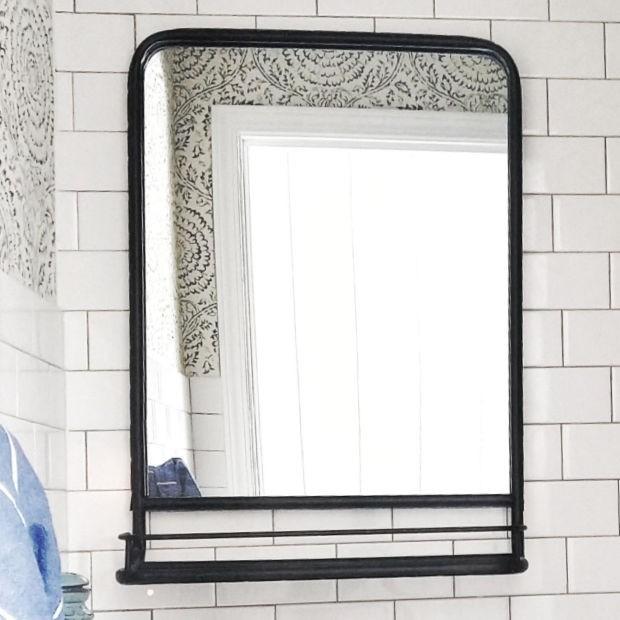 Metal Wall Mirror With Shelf Wall mirror with shelf