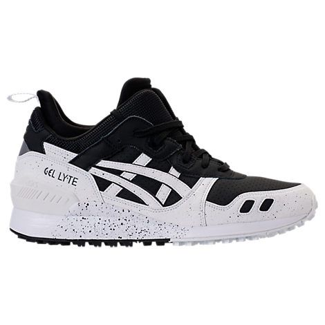 asics men's tiger gellyte mt casual shoes white/black