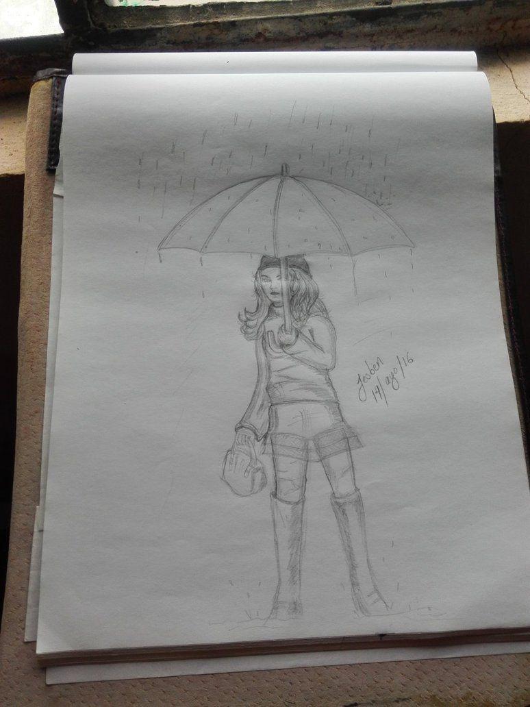 girl rain by pipila otro dibujo ms de la pelcula el ultimo regalo