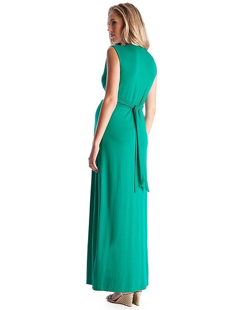 wholesale dealer 2f6d0 a948a Seraphine Jo - Abito Elegante Premaman - Verde Smeraldo ...