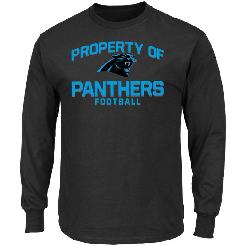 20b4e1662 Carolina Panthers Majestic Property Of Long Sleeve T-Shirt - Black ...