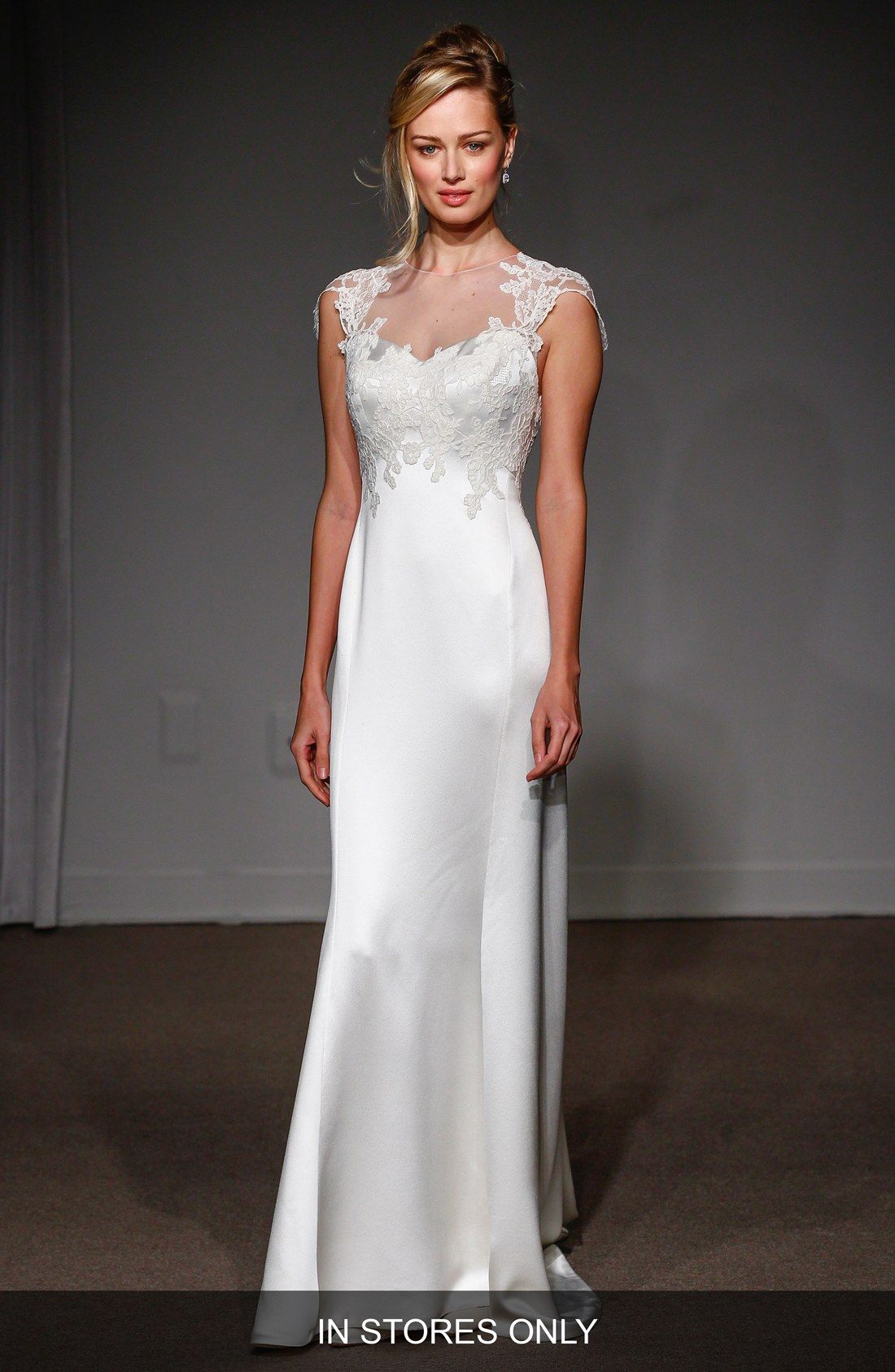 Silk sheath wedding dress  Pin by Mina Jolly on wed d xtr  Pinterest  Illusions Anna and