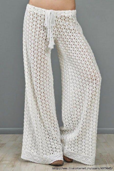 Free Pattern – Crochet Pants (Crochet   Ganchillo, Blusas de gancho ...