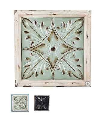 Beige  Turquoise Wood  Metal Flower Wall Decor Wall Art