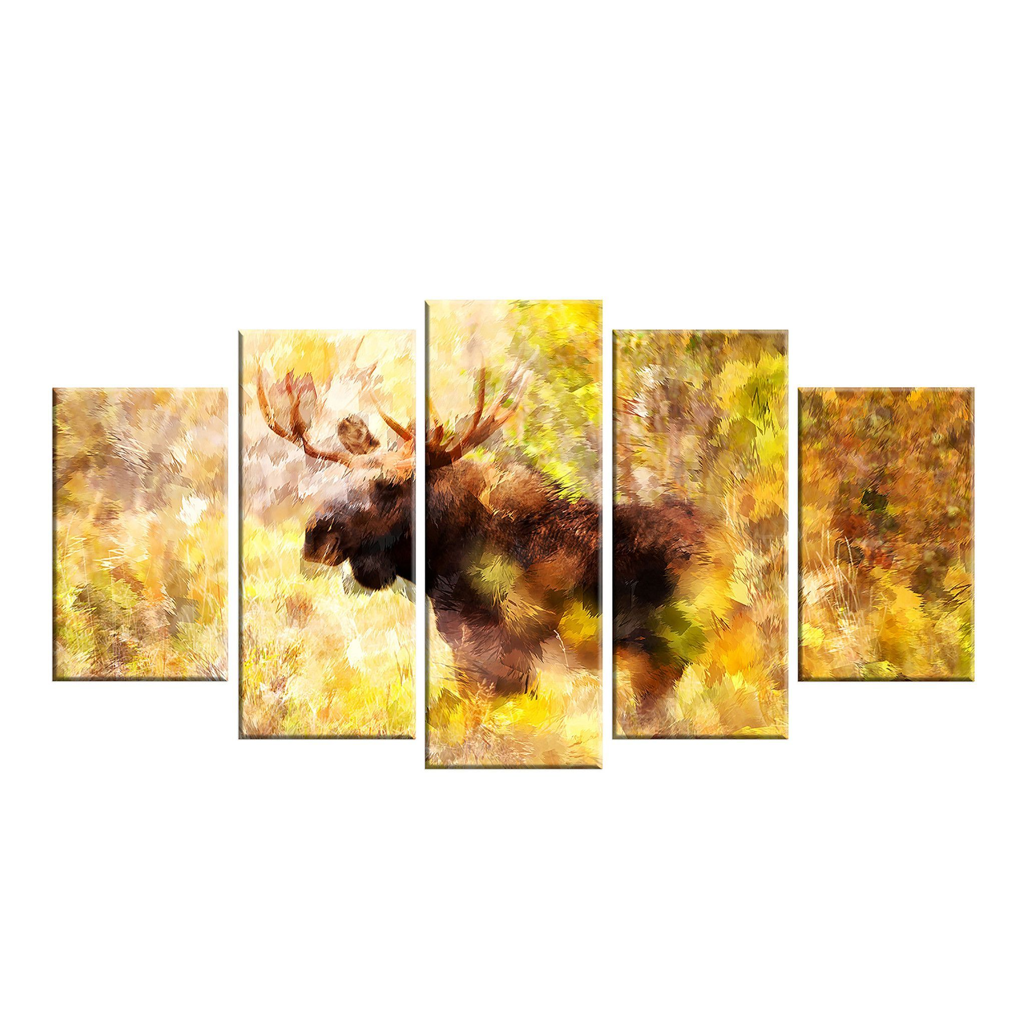 Mighty Moose Canvas Wall Art Print | Products | Pinterest | Moose ...