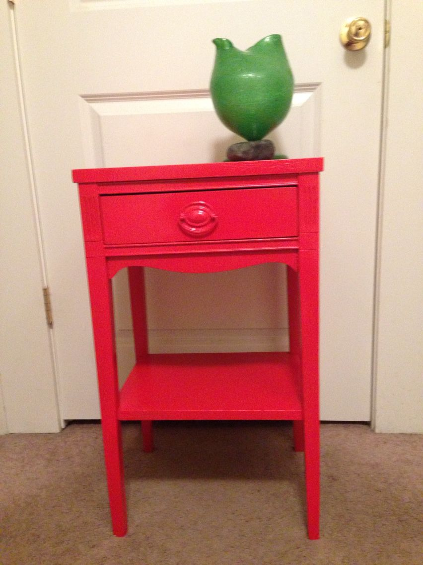 Brisson Red Lacquer Side Table