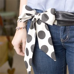 A how- to for this adorable leather bow belt the perfect little project for fall!