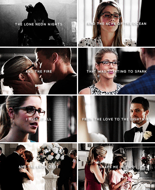 There's distance and there's silence, your words have never left me, they're the prayer that I say every day. #arrow