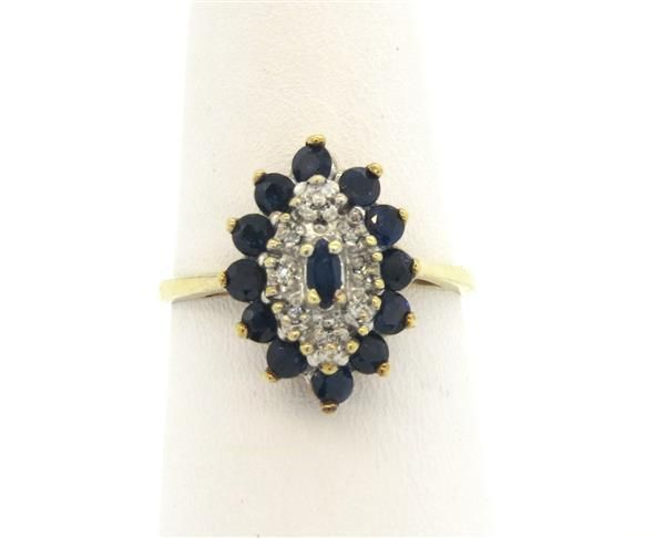 10k Gold DIamond Sapphire Ring Featured in our upcoming auction on November 2, 2015 11:00AM EST!