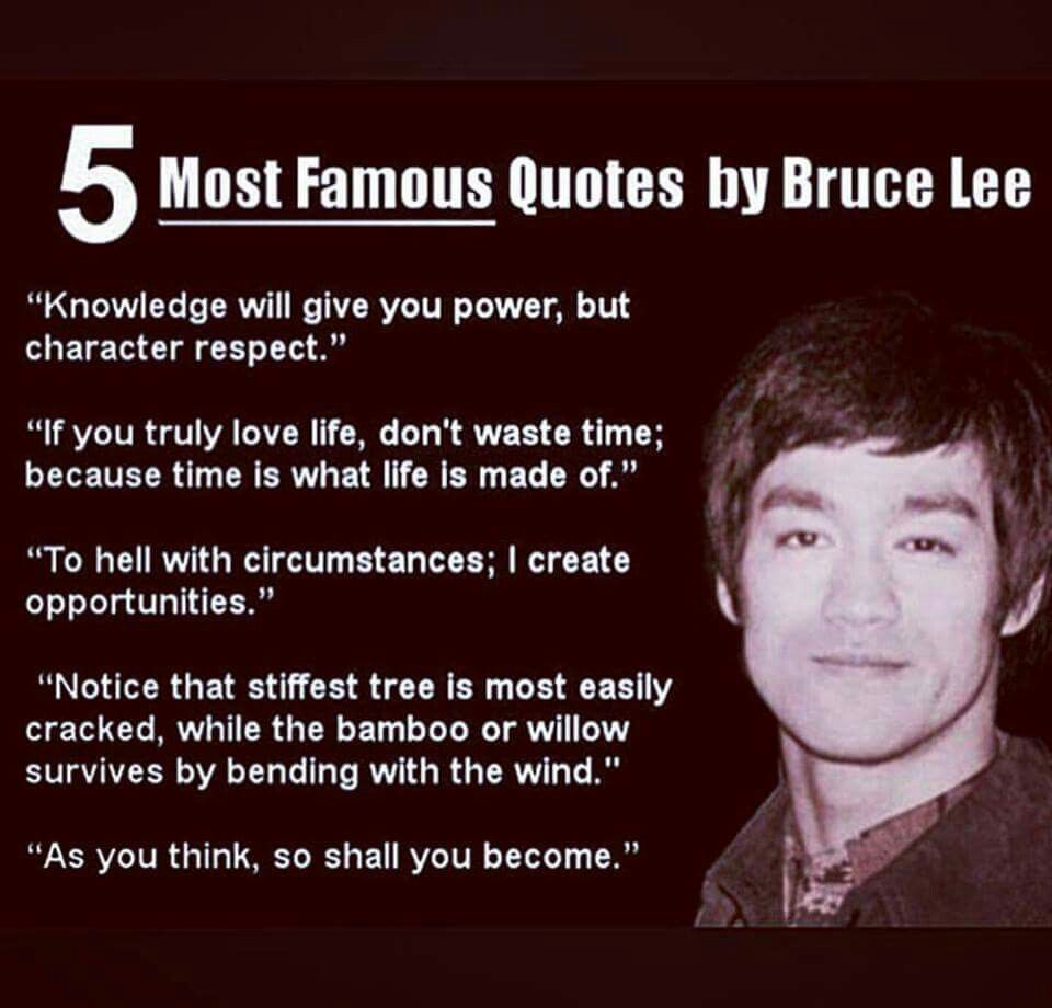 Most Famous Quotes Pinchef Cici On Be The Change  Pinterest  Bruce Lee Deep