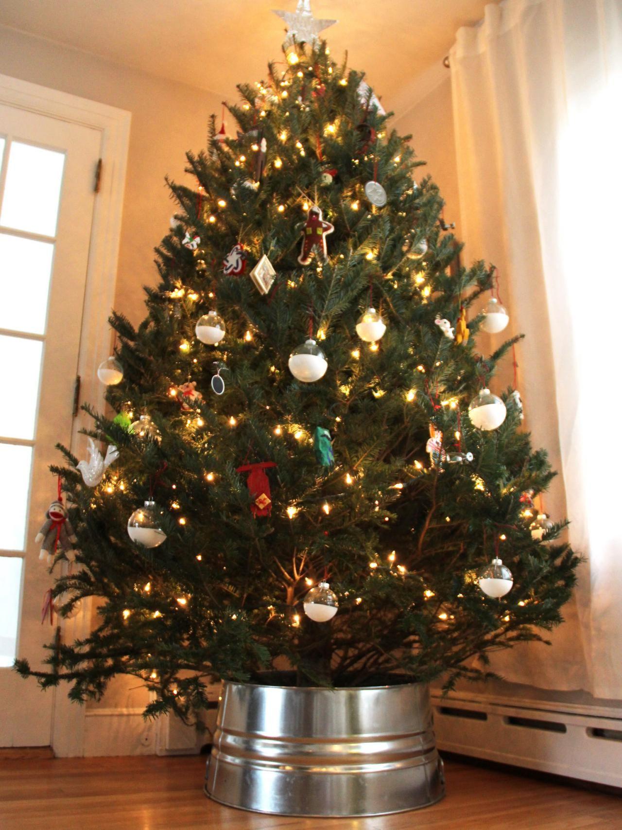 Galvanized Christmas Tree Collar Hack Metal christmas