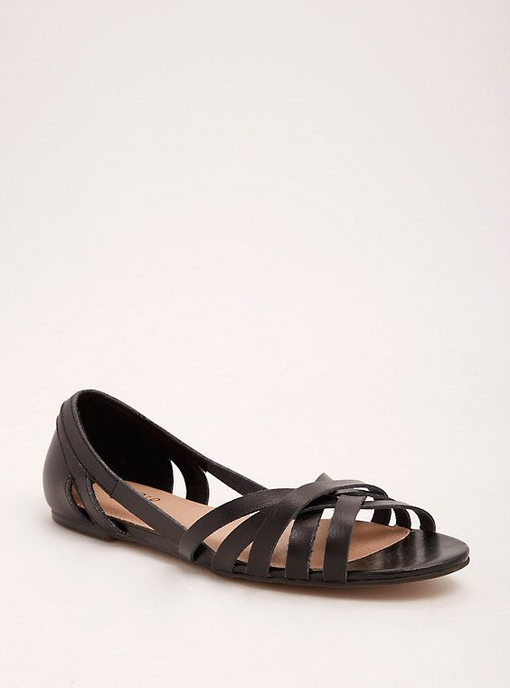 01c049454d45 Plus Size Strappy Peep Toe D Orsay Flats (Wide Width)