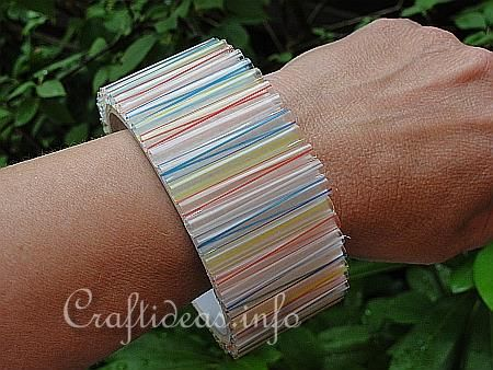 Straw Bangle: Recyclable Craft.