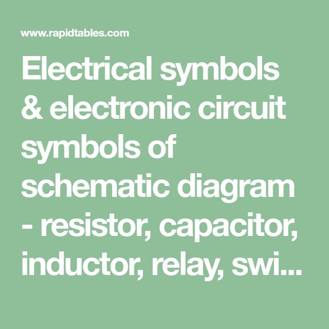 Electrical Symbols  U0026 Electronic Circuit Symbols Of