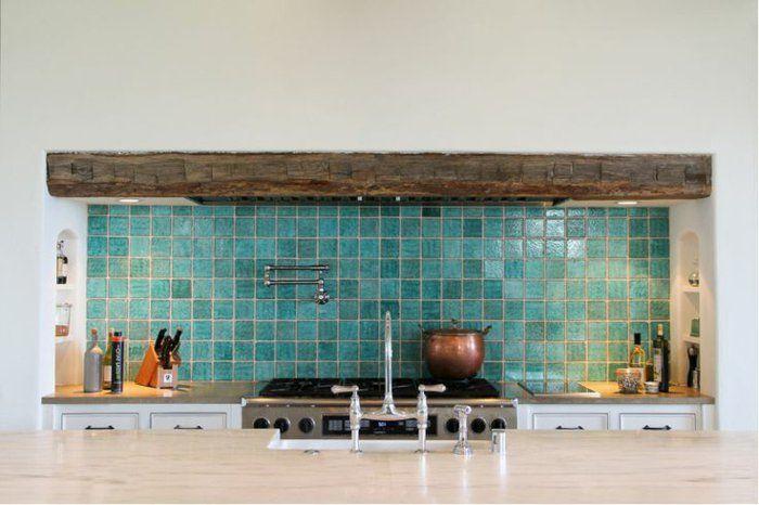 30 Carrelage Adhesif Mural Bleu Clair Pour La Cuisine Moderne Avec
