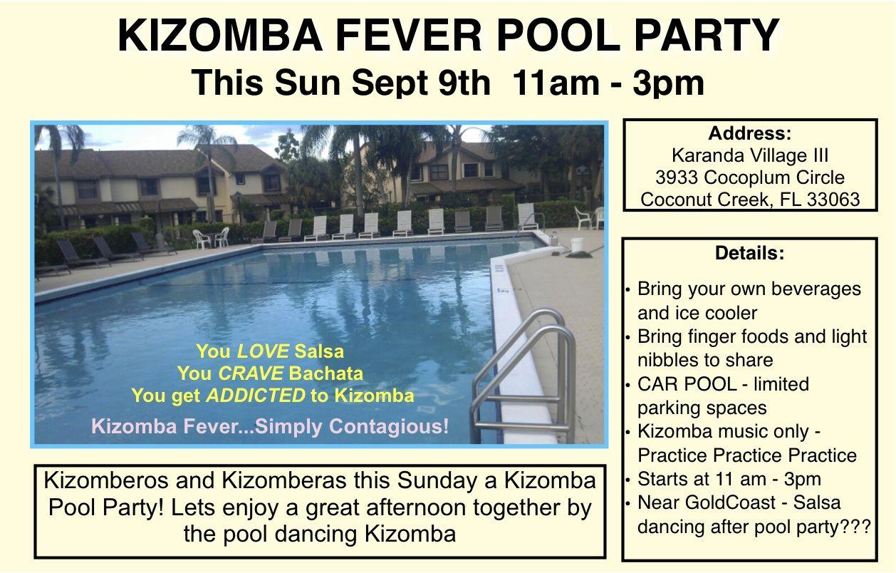 Kizomba Fever Pool Party Spet 9th 2012 Kizomba Bachata Pool Party
