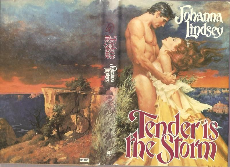 Romance Book Cover Guy ~ Tender is the storm by johanna lindsey avon awesome