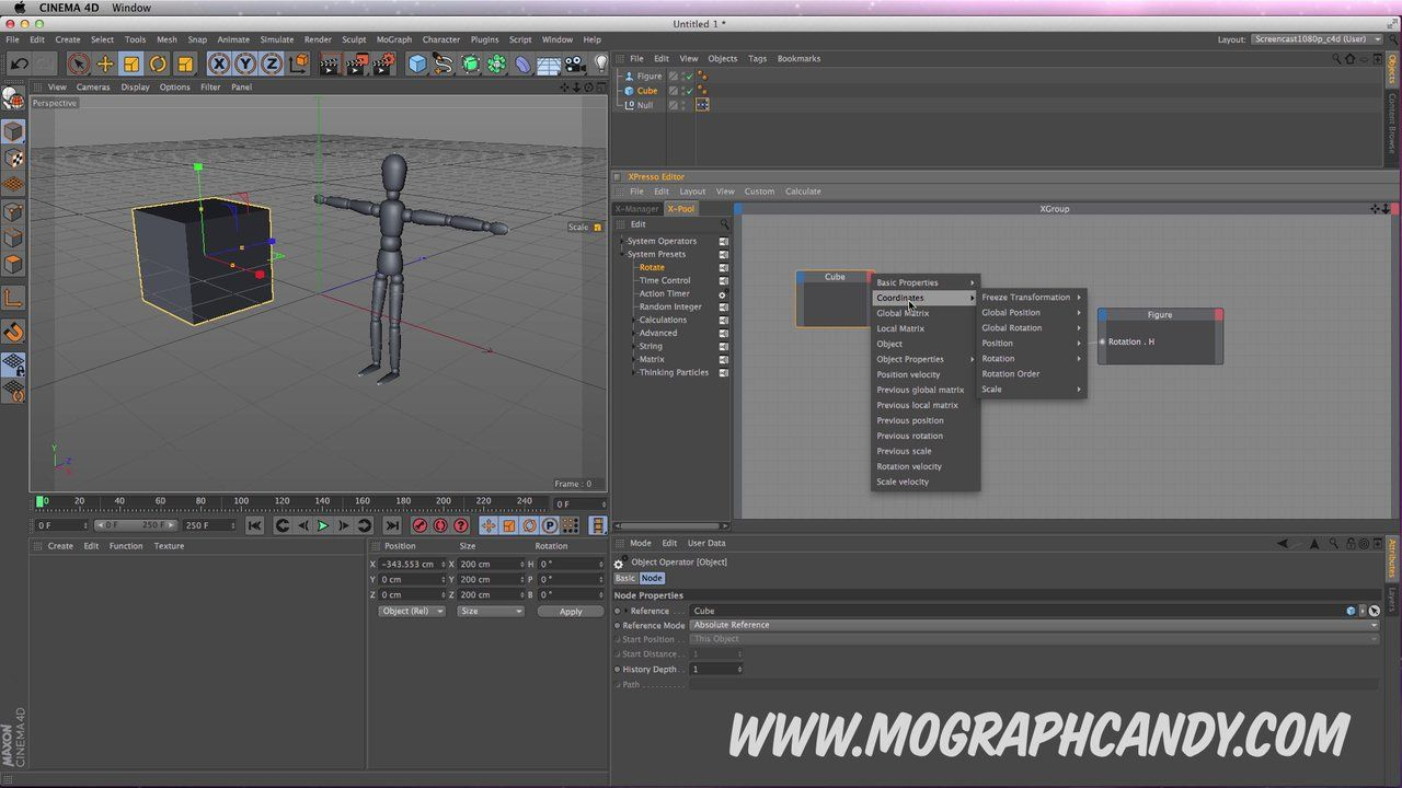 Cinema 4D Tutorial : Automate Animation Using Xpresso System