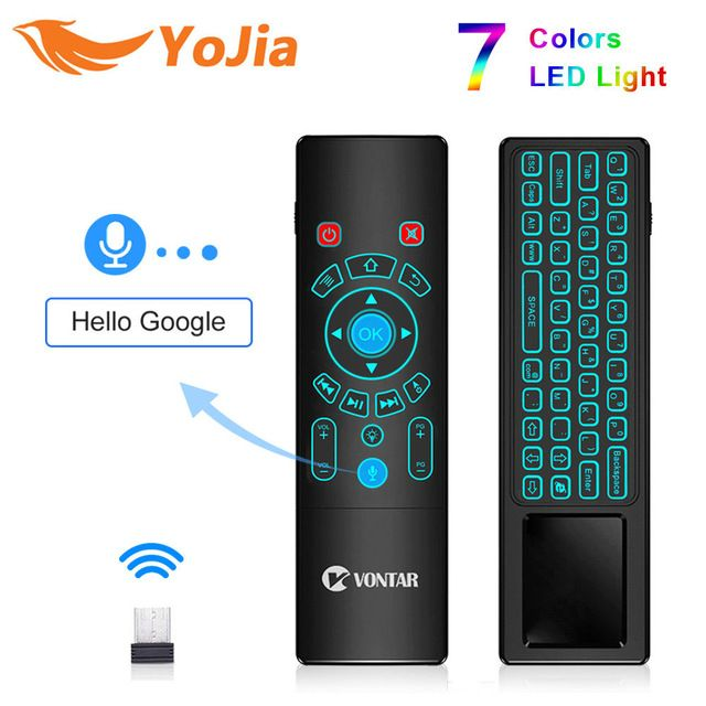 T6 Plus Voice Remote Control 2 4G Wireless Fly Air Mouse mini