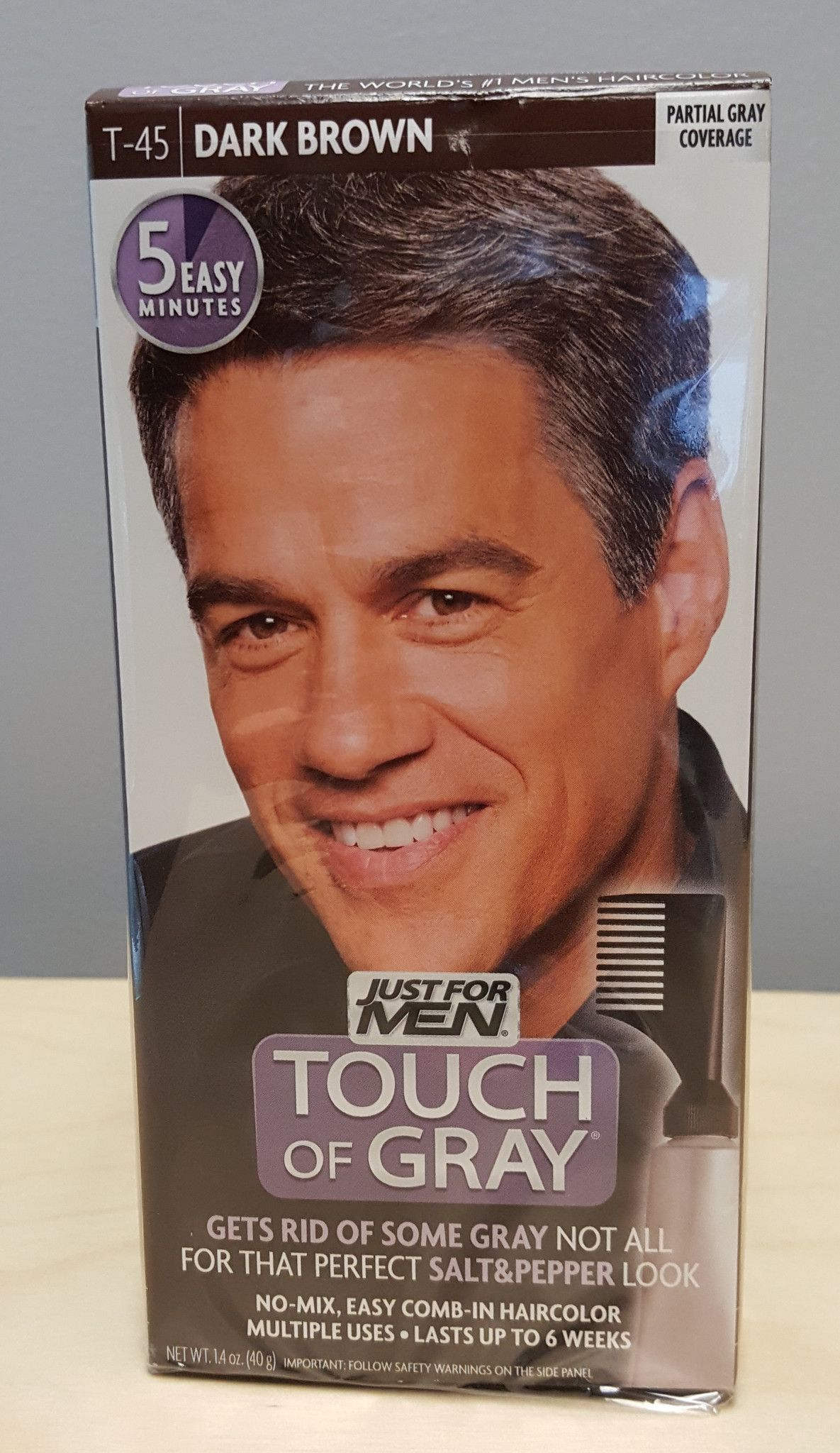 Just For Men Touch Of Gray Dark Brown 1 Lication 3 Pack