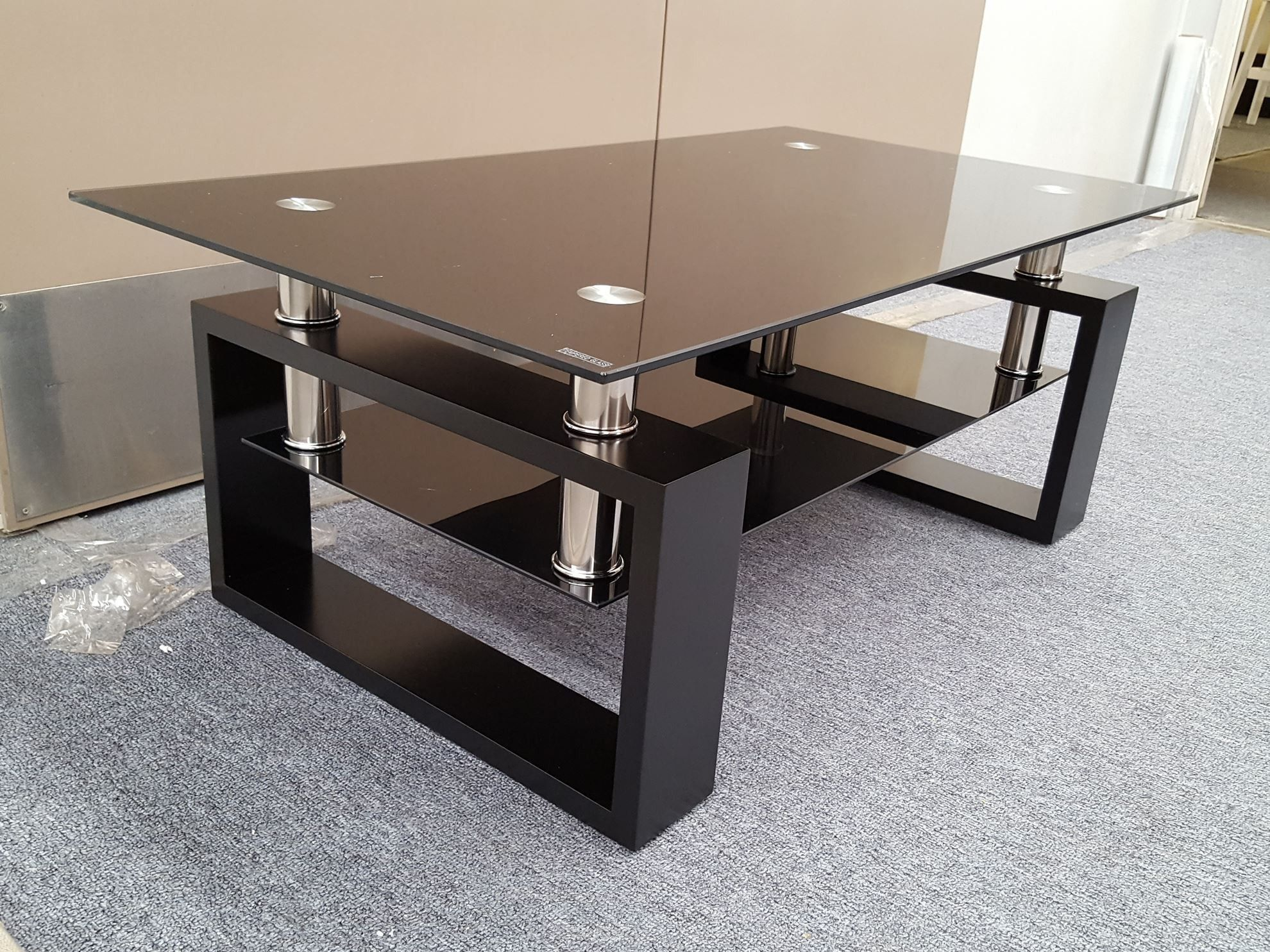 50 Black Tempered Glass Coffee Table Best Furniture Gallery