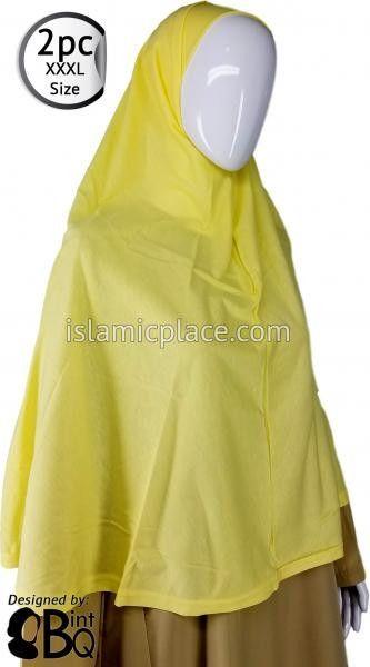 Yellow Plain Adult (XXX-Large) Hijab Al-Amira