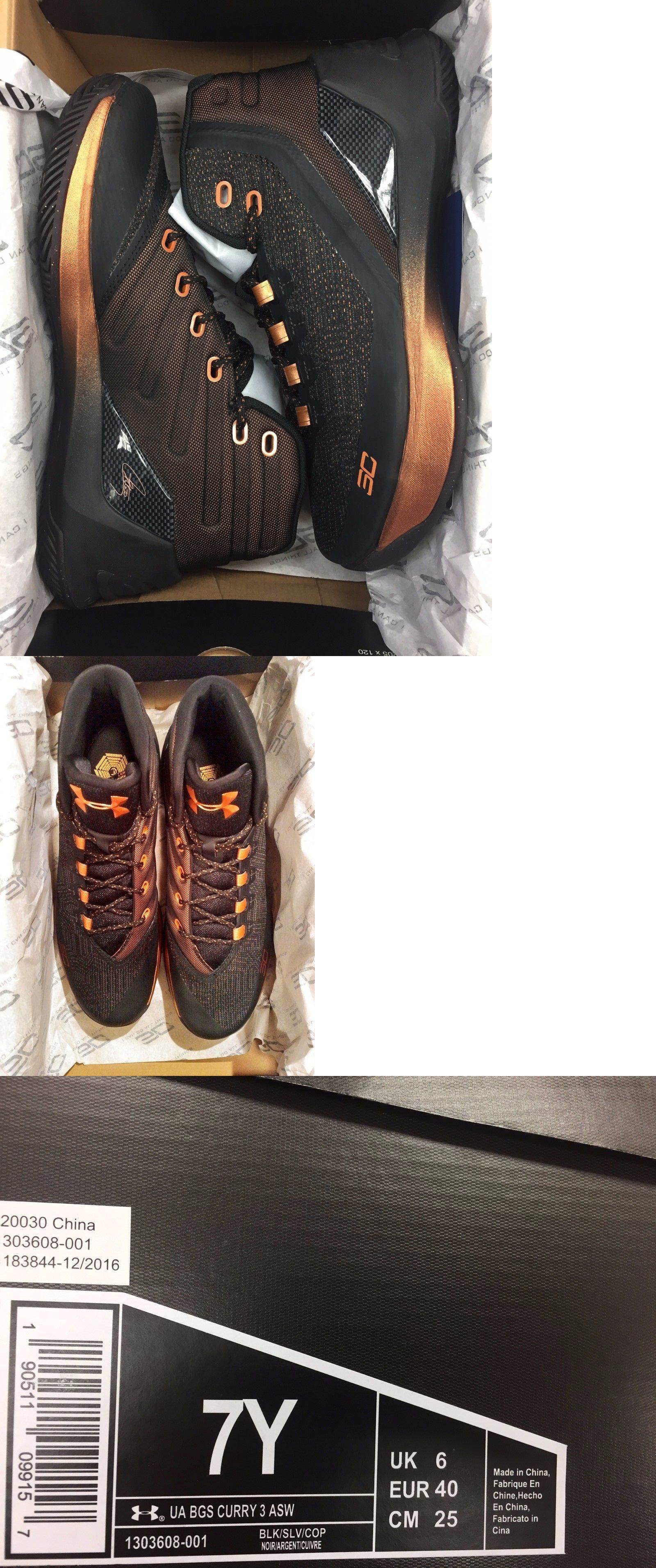Boys Shoes 57929 Under Armour Curry 3 Gs Asw All Star Black Copper