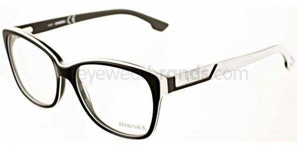 Diesel DL5013 005 Black/White Designer Glasses Diesel Glasses From Eyewearbrands