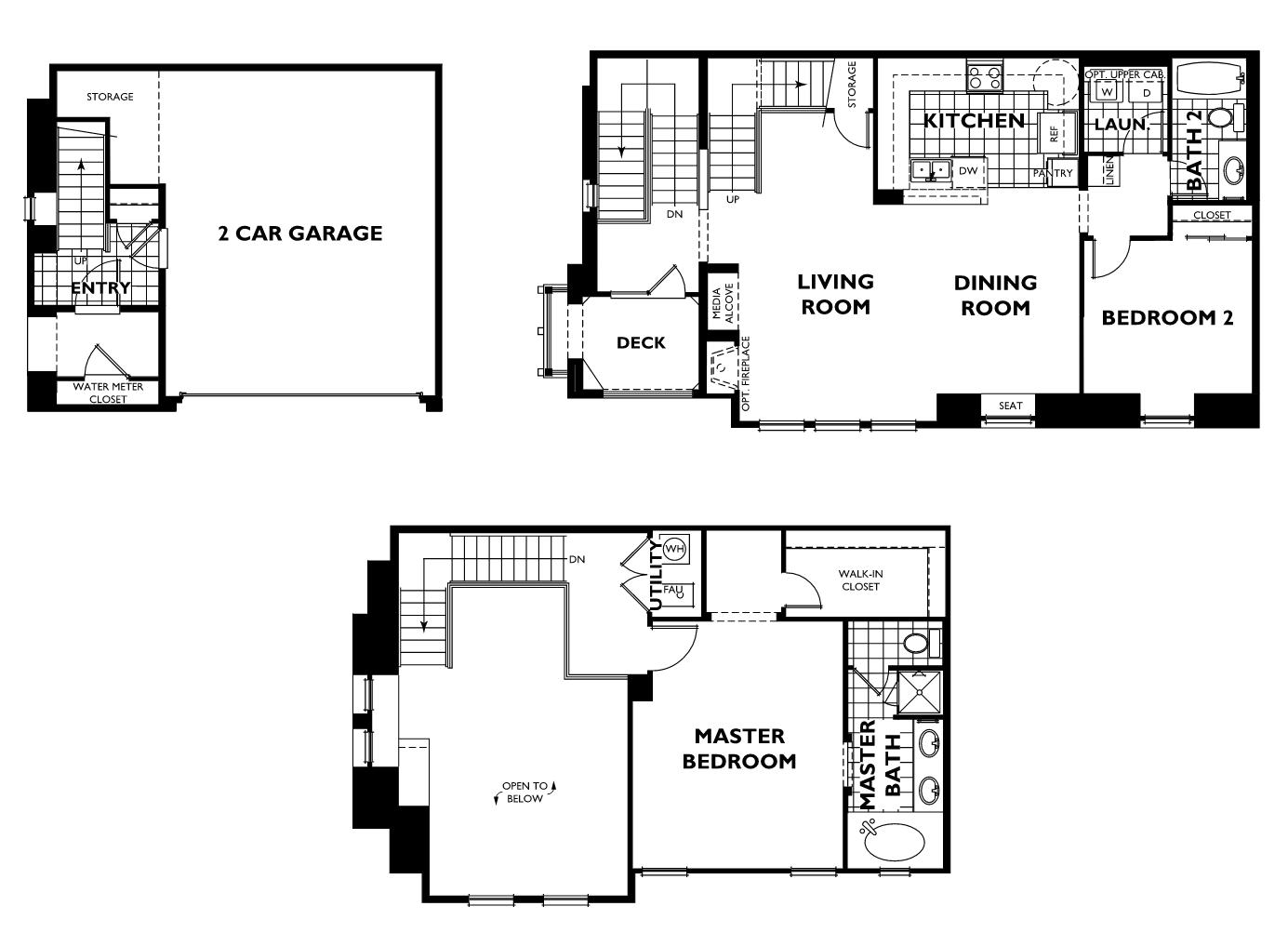 Plan 4 Raphael Floor Plan Tresana At Highlands Ranch