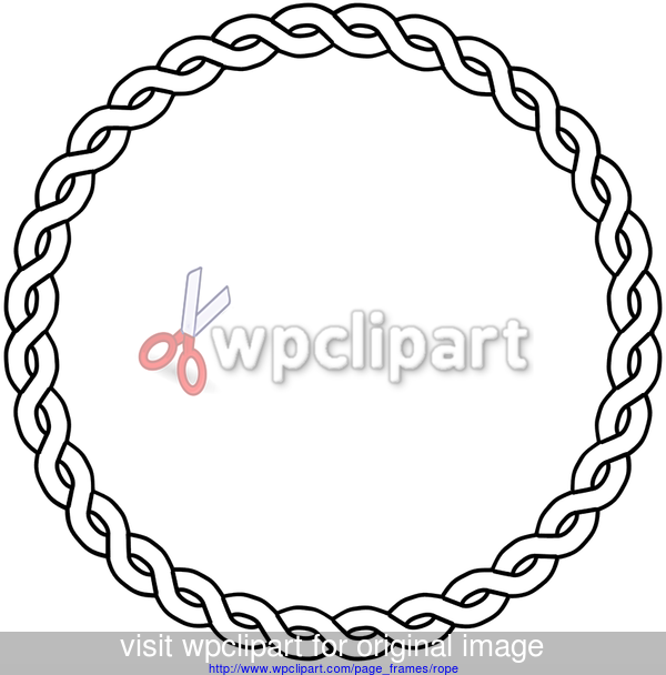 Rope Border Circle Page Frames Embroidery Designs Circle