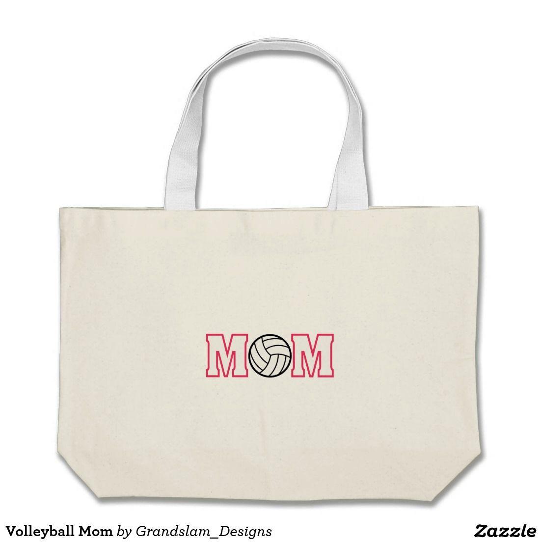 Volleyball Mom Jumbo Tote Bag