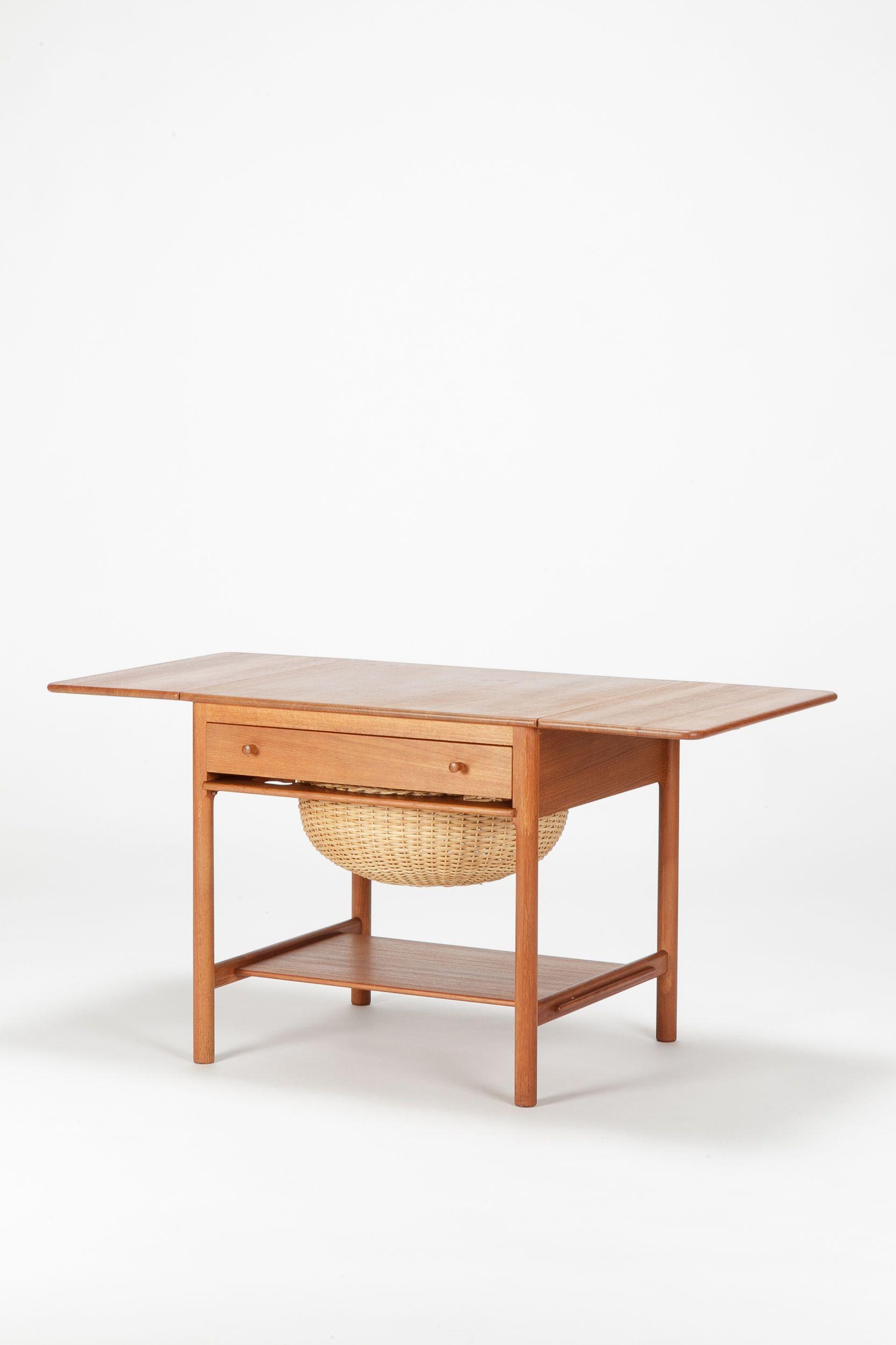 Hans Wegner Sewing Table AT 33 Teak & Oak Tables
