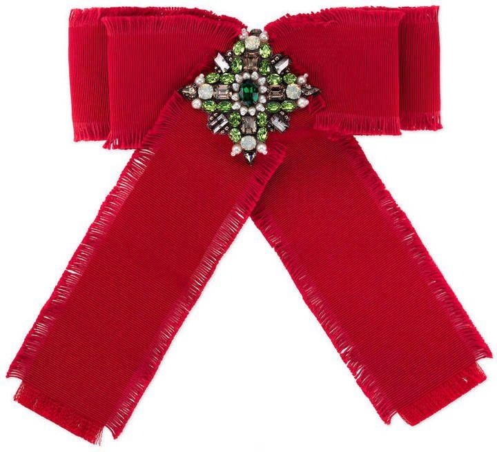 Red Grosgrain Bow Brooch Gucci RMNrAG