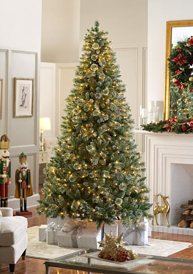 Biltmore 9 Ft Pre Lit Snow Dipped Mixed Tip Tree Christmas Deco Tree Festive Trees