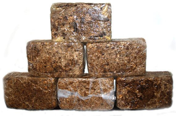 Raw African Black Soap fresh and sealed by RitzyScents on Etsy